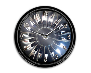 Amazing Jet Engine Printed Wall Clocks Aviation Shop
