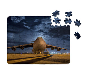 Amazing Military Aircraft at Night Printed Puzzles Aviation Shop