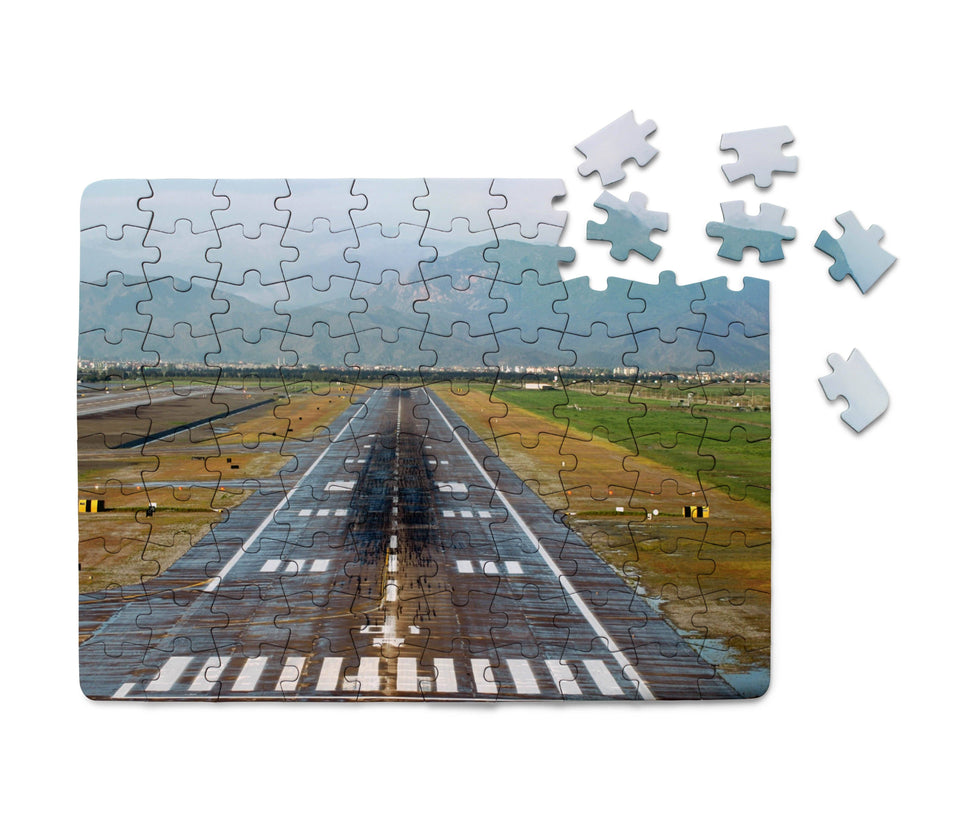 Amazing Mountain View & Runway Printed Puzzles Aviation Shop