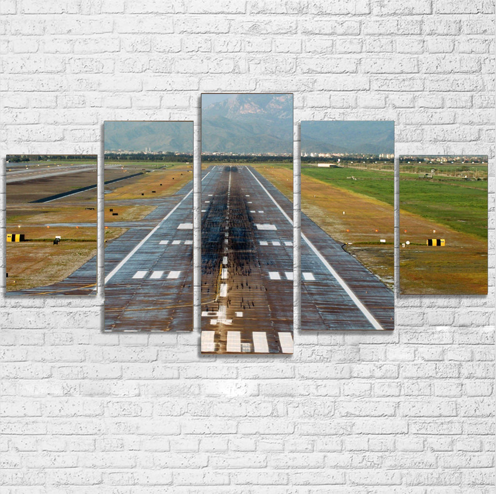 Amazing Mountain View & Runway Multiple Canvas Poster