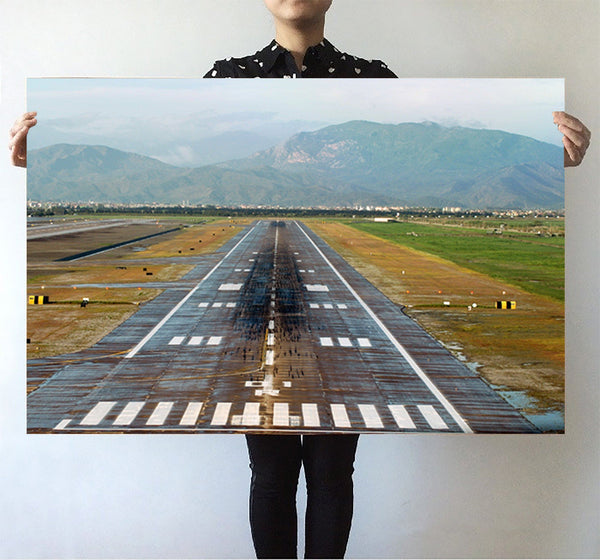 Amazing Mountain View & Runway Printed Posters