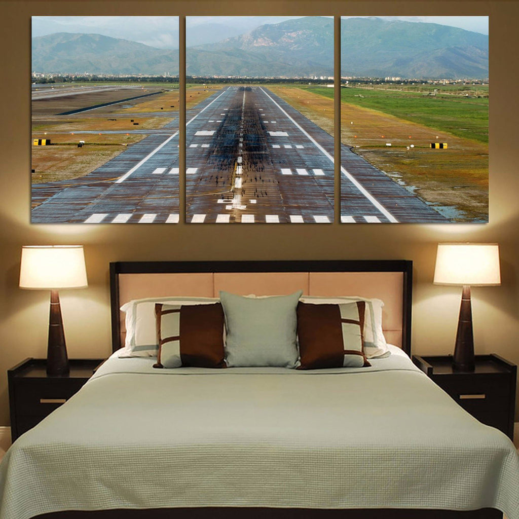 Amazing Mountain View & Runway Canvas Posters (3 Pieces)