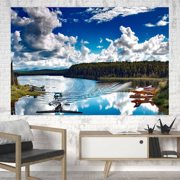 Amazing Scenary & Sea Planes Printed Canvas Posters (1 Piece) Aviation Shop