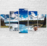 Amazing Scenary & Sea Planes Printed Multiple Canvas Poster