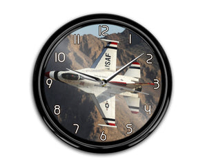 Amazing Show by Fighting Falcon F16 Printed Wall Clocks Aviation Shop