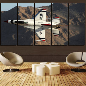 Amazing Show by Fighting Falcon F16 Printed Canvas Prints (5 Pieces) Aviation Shop