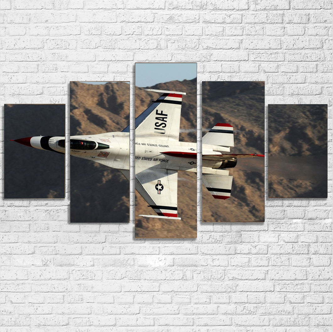 Amazing Show by Fighting Falcon F16 Printed Multiple Canvas Poster Aviation Shop