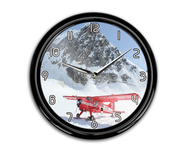 Amazing Snow Airplane Printed Wall Clocks Aviation Shop