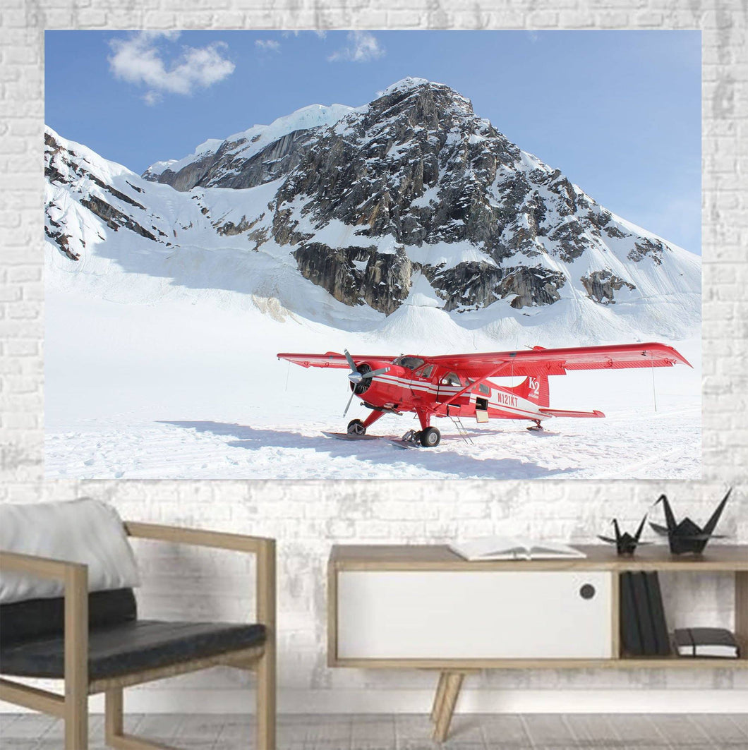 Amazing Snow Airplane Printed Canvas Posters (1 Piece) Aviation Shop