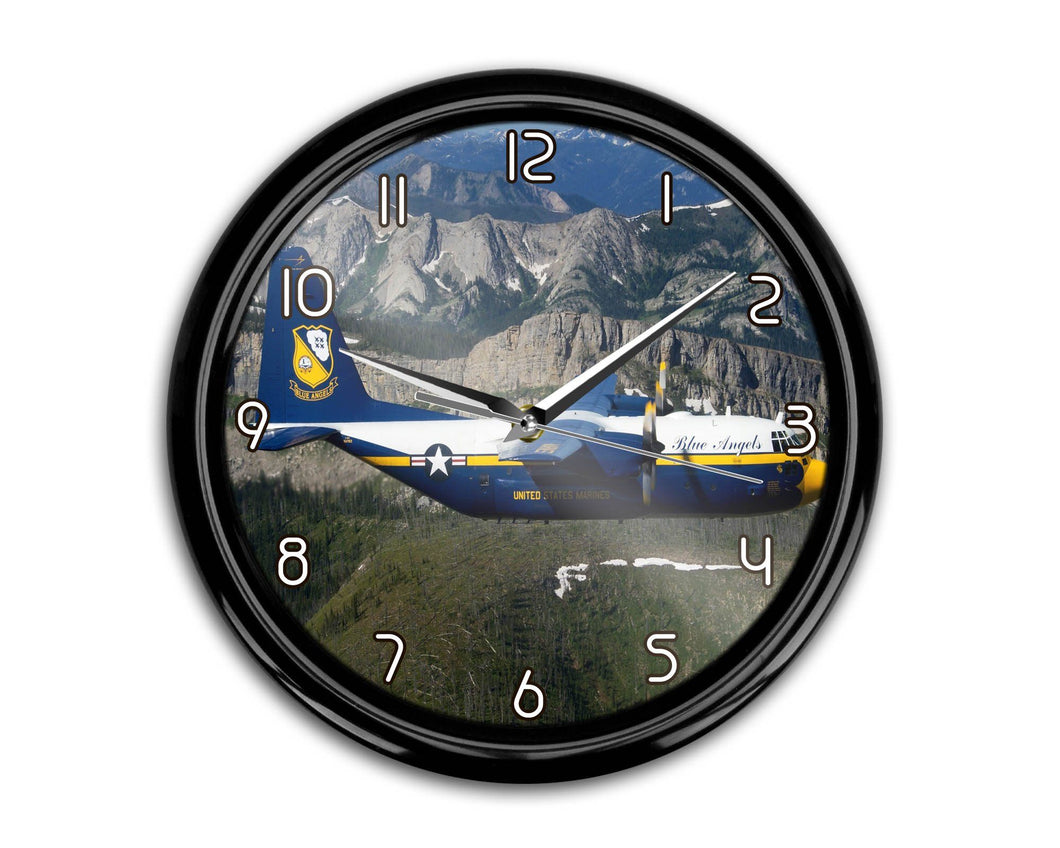 Amazing View with Blue Angels Aircraft Printed Wall Clocks Aviation Shop