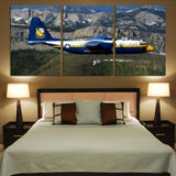 Amazing View with Blue Angels Aircraft Printed Canvas Posters (3 Pieces)