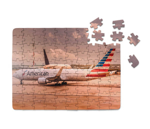 American Airlines Boeing 767 Printed Puzzles Aviation Shop