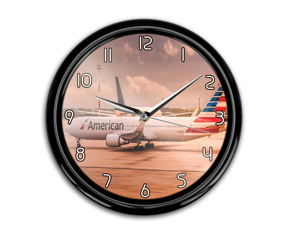 American Airlines Boeing 767 Printed Wall Clocks Aviation Shop