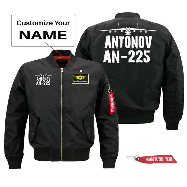 Antonov AN-225 Silhouette & Designed Pilot Jackets (Customizable)