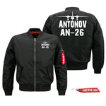 Antonov AN-26 Silhouette & Designed Pilot Jackets (Customizable)