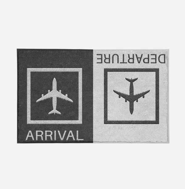 Arrivals & Departures 2 Designed Door Mats Aviation Shop