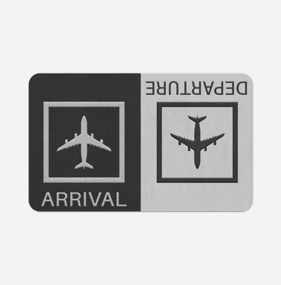 Arrivals & Departures 2 Designed Door & Bath Mats
