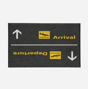 Departures & Arrivals 3 Designed Door Mats Aviation Shop