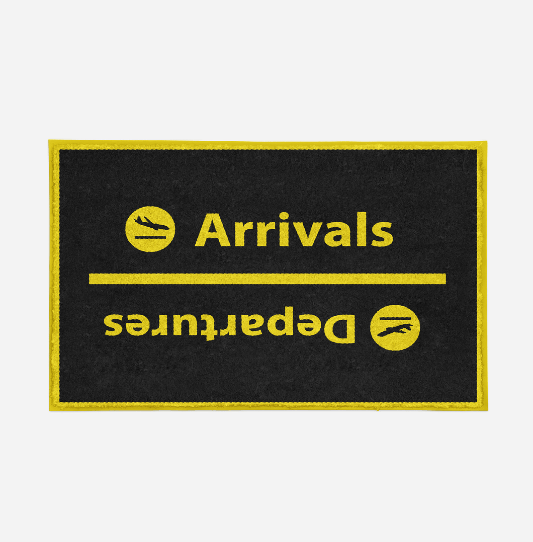 Arrival and Departures 4 (Black) Designed Door Mats Aviation Shop