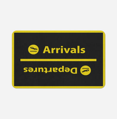 Arrival and Departures 4 (Black) Designed Door & Bath Mats