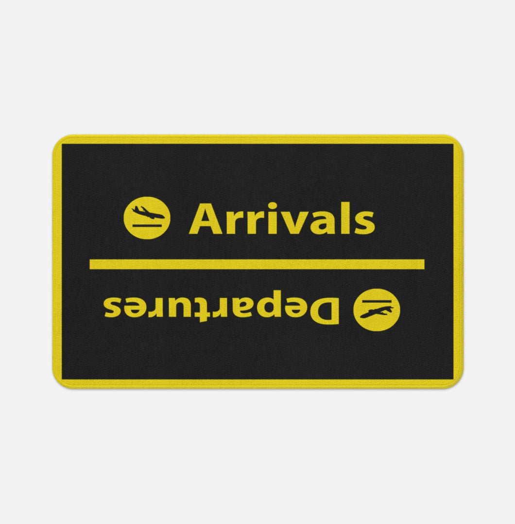Arrival and Departures 4 (Black) Designed Bath Mats Pilot Eyes Store Floor Mat 50x80cm