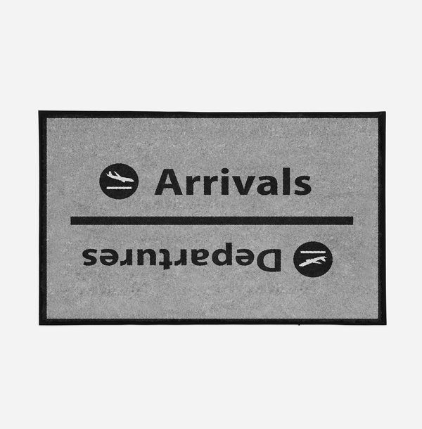 Arrival and Departures 4 (Gray) Designed Door Mats Aviation Shop