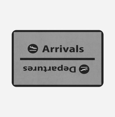 Arrival and Departures 4 (Gray) Designed Door & Bath Mats