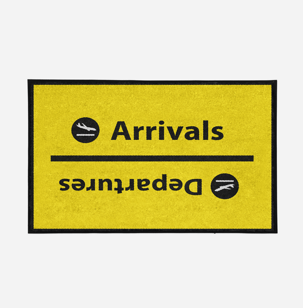 Arrival and Departures 4 (Yellow) Designed Door Mats Aviation Shop