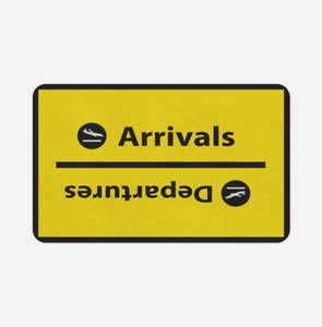 Arrival and Departures 4 (Yellow) Designed Bath Mats Pilot Eyes Store Floor Mat 50x80cm