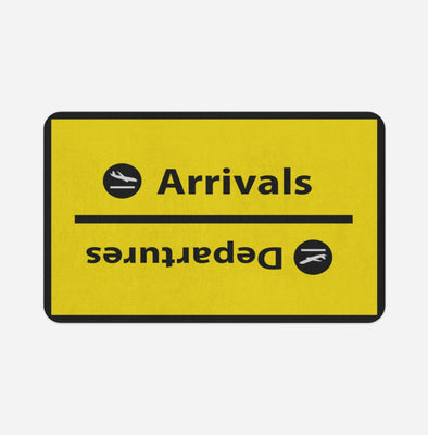 Arrival and Departures 4 (Yellow) Designed Door & Bath Mats
