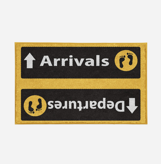 Departures & Arrivals 5 Designed Door Mats Aviation Shop