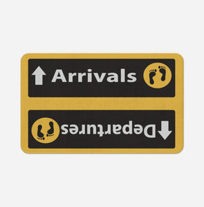 Departures & Arrivals 5 Designed Bath Mats Aviation Shop