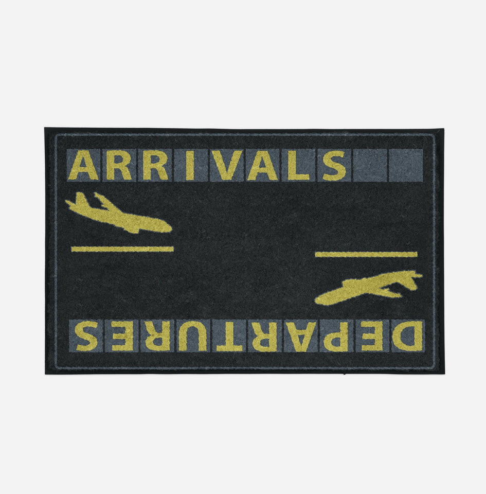 Arrival & Departures 6 Designed Door Mats Aviation Shop