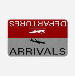 Departure and Arrivals (Red) Designed Bath Mats Pilot Eyes Store Floor Mat 50x80cm