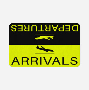 Departure and Arrivals (Yellow) Designed Bath Mats Pilot Eyes Store Floor Mat 50x80cm