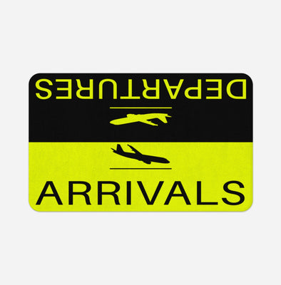Departure and Arrivals (Yellow) Designed Door & Bath Mats
