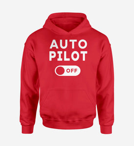 Auto Pilot Off Designed Hoodies