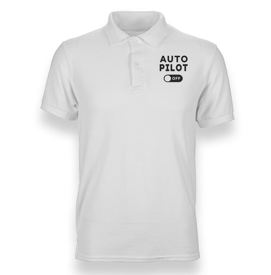 Auto Pilot Off Designed Polo T-Shirts