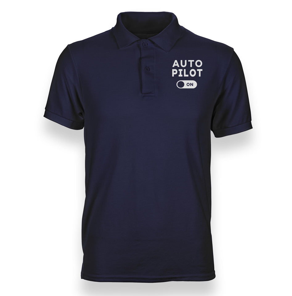 Auto Pilot On Designed Polo T-Shirts