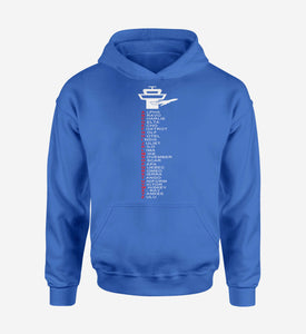 Aviation Alphabet Designed Hoodies