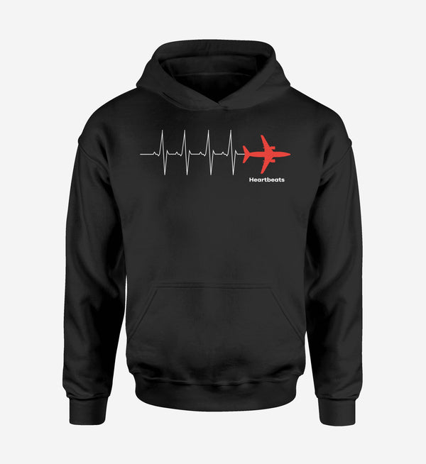 Aviation Heartbeats Designed Hoodies