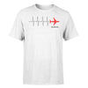 Aviation Heartbeats Designed T-Shirts