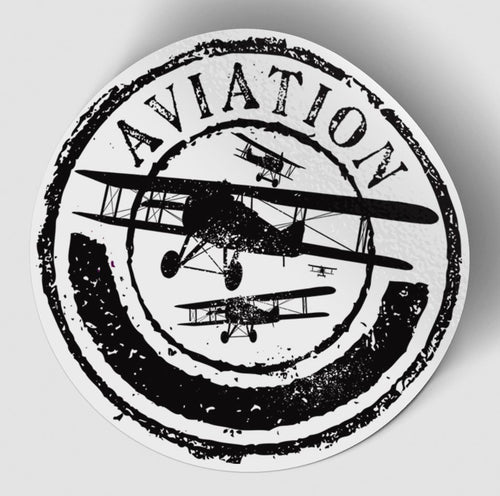 Aviation Lovers Designed Stickers