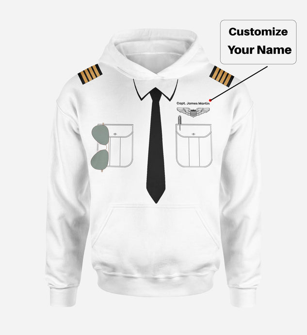 Customizable Pilot Uniform (Badge 1) Designed 3D Hoodies