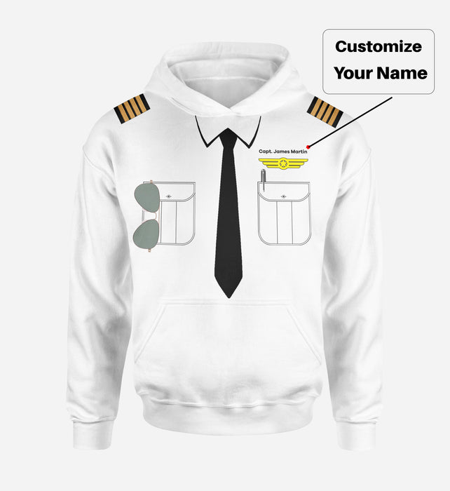 Customizable Pilot Uniform (Badge 2) Designed 3D Hoodies