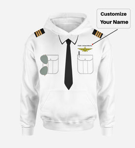 Customizable Pilot Uniform (Badge 3) Designed 3D Hoodies