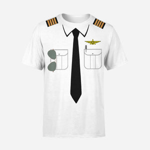 Customizable Pilot Uniform (Badge 3) Designed 3D T-Shirts