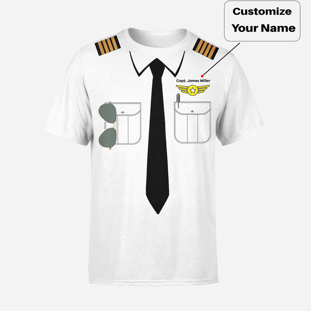 Customizable Pilot Uniform (Badge 4) Designed 3D T-Shirts