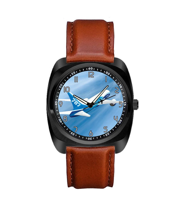 Beautiful Painting of Boeing 787 Dreamliner Designed Luxury Watches