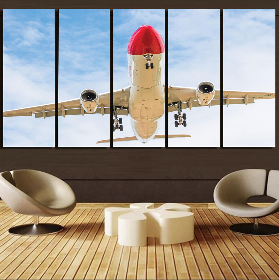 Beautiful Airbus A330 on Approach Printed Canvas Prints (5 Pieces) Aviation Shop